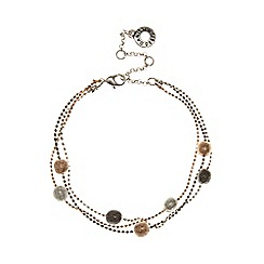 Pilgrim - Silver plated circle bead bracelet