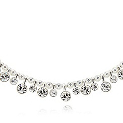 Pilgrim - Silver plated circle stone necklace