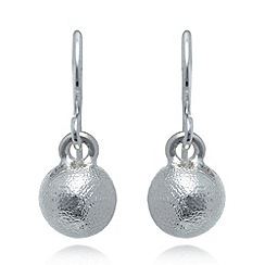 Pilgrim - Silver plated ball earrings