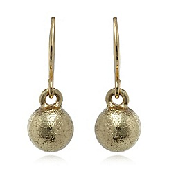 Pilgrim - Gold plated ball earrings