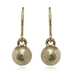 Pilgrim - Gold plated ball earrings