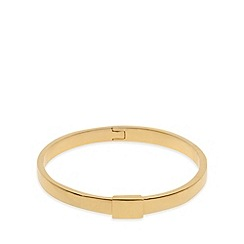 Pilgrim - Gold smooth clip bangle