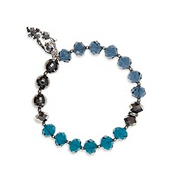 Pilgrim - Navy faceted stone bracelet