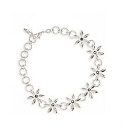 Pilgrim - Silver plated floral link bracelet