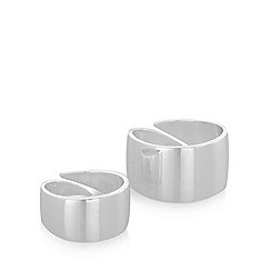 Pilgrim - Pack of two silver smooth rings