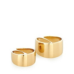 Pilgrim - Pack of two gold smooth rings