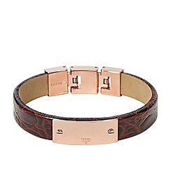 Fossil - Fossil ladies brown leather bracelet