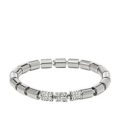 Fossil - Fossil ladies silver-tone stretch bracelet