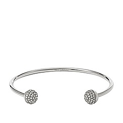 Fossil - Fossil ladies silver-tone pave cuff