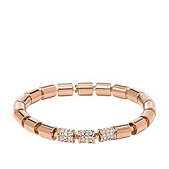 Fossil - Fossil ladies rose gold-tone stretch bracelet