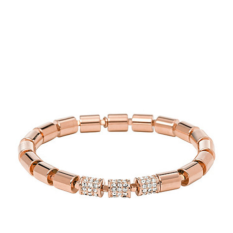Fossil Fossil ladies rose gold-tone stretch bracelet ...