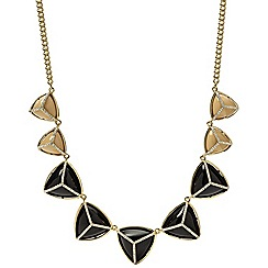 Fossil - Fossil ladies black and gold-tone statement necklace