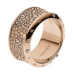 DKNY - Ladies rose gold-tone fashion ring M/L