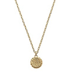 DKNY - Ladies gold-tone necklace featuring crystal detailed pendent