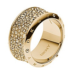 DKNY - Ladies gold fashion ring S/M