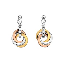 Hot Diamonds - Trio rose gold earrings