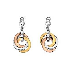 Hot Diamonds - Trio rose gold earrings