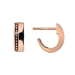 Hot Diamonds - Trio rose gold plated hoop earrings