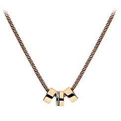 Hot Diamonds - Trio rose gold plated statement pendant
