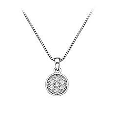 Hot Diamonds - Stargazer circle pendant