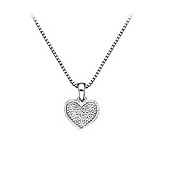 Hot Diamonds - Stargazer heart pendant