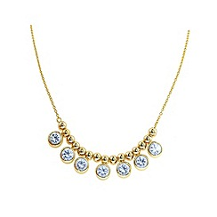 Finesse - Gold brilliant cubic zirconia drops necklace
