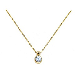 Finesse - Gold brilliant cubic zirconia pendant