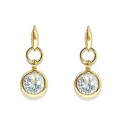 Finesse - Gold link & brilliant cubic zirconia earrings