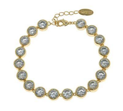 Finesse Gold brilliant cubic zirconia tennis bracelet