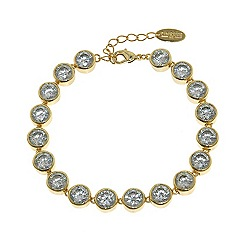 Finesse - Gold brilliant cubic zirconia tennis bracelet