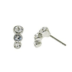Finesse - Rhodium graduated Swarovski crystal trio earrings