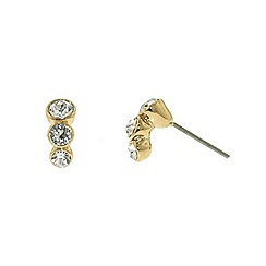 Finesse - Gold graduated Swarovski crystal trio earrings