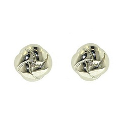 Finesse - Rhodium polished knot earrings