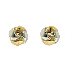 Finesse - Gold & rhodium polished knot earrings