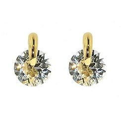 Finesse - Gold & pin-set Swarovski crystal earrings