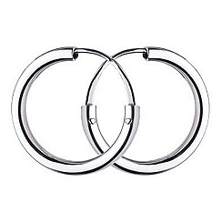 Dew - 20mm silver sleeper hoop earrings