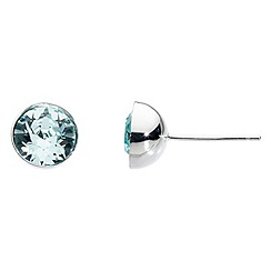 Dew - Swarovski crystal round stud earrings