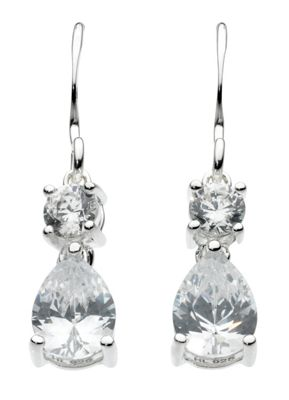 Dew Round and pear drop earrings - . -