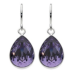 Dew - Swarovski crystal pear drop earrings