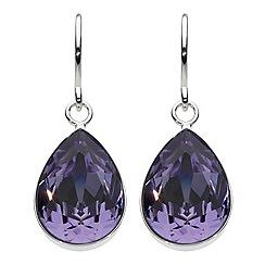 Dew - Swarovski crystal pear drop earrings