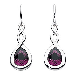 Dew - Swarovski crystal pear twist drop earrings