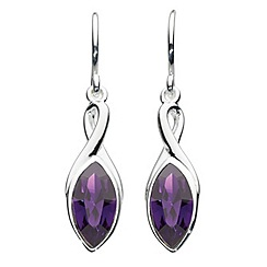 Dew - Swarovski crystal marquise drop earrings