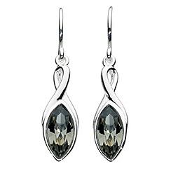 Dew - Swarovski crystal marquise drop earrings