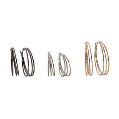 Call It Spring Set of three ´Yaedia´ hoop earrings - . -