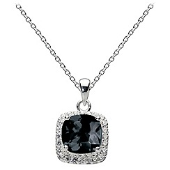 Dew - Large square stone necklace