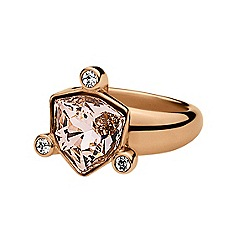 Dyrberg Kern - Rose gold plated stainless steel ring with swarovski elements S/M