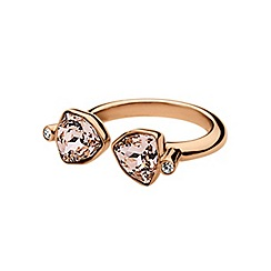 Dyrberg Kern - Rose gold plated stainless steel ring with swarovski elements M/L