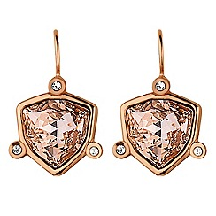 Dyrberg Kern - Rose gold plated stainless steel earrings with swarovski elements
