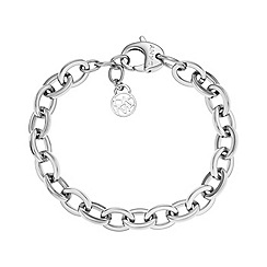 DKNY - Ladies stainless steel chain and logo charm bracelet