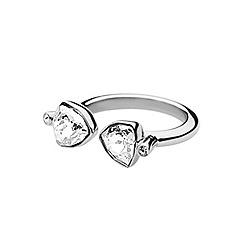 Dyrberg Kern - Silver plated stainless steel ring with swarovski elements S/M
